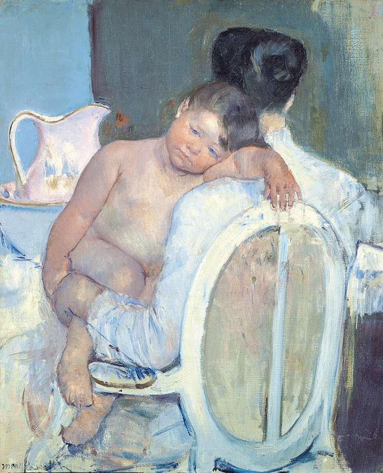メアリー・カサット 子供を抱えたまま座る女性 F30サイズ F30号 910x727mm 条件付き送料無料  額縁付絵画 インテリア 額入り 壁掛け複製油絵 メアリー・カサット