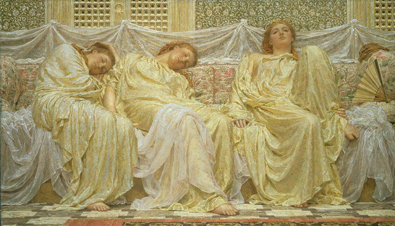 絵画 インテリア 額入り 壁掛け複製油絵アルバート・ジョゼフ・ムーア 夢見る人々 F15サイズ F15号 652x530mm 油彩画 複製画 選べる額縁 選べるサイズ