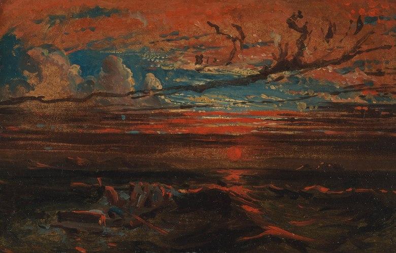 絵画 インテリア 額入り 壁掛け複製油絵フランシス・ダンビー 嵐の後の夕暮れの海 M15サイズ M15号 652x455mm 油彩画 複製画 選べる額縁 選べるサイズ