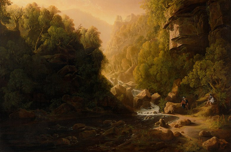 絵画 インテリア 額入り 壁掛け 油絵 フランシス・ダンビー 山流 M15サイズ M15号 652x455mm 油彩画 複製画 選べる額縁 選べるサイズ
