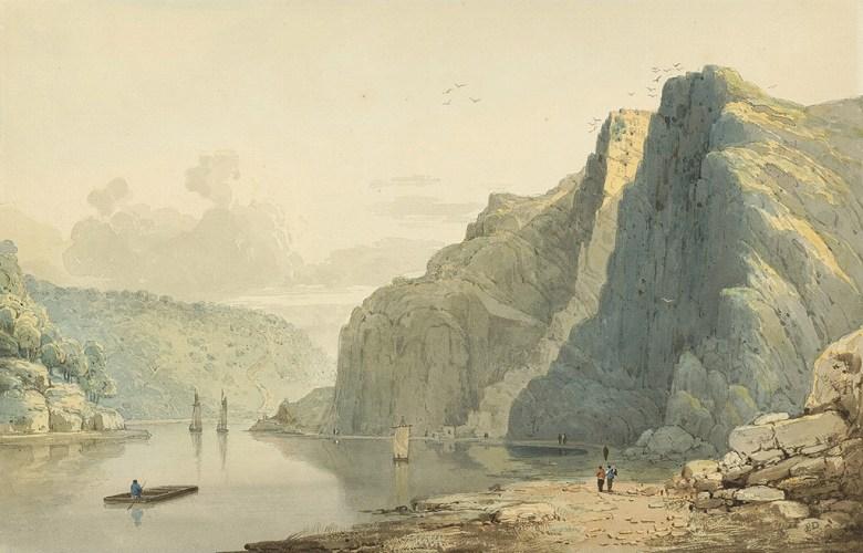 油絵 フランシス・ダンビー セントビンセントの岩とエイボン・ゴージ M12サイズ M12号 606x410mm 油彩画 絵画 複製画 選べる額縁 選べるサイズ