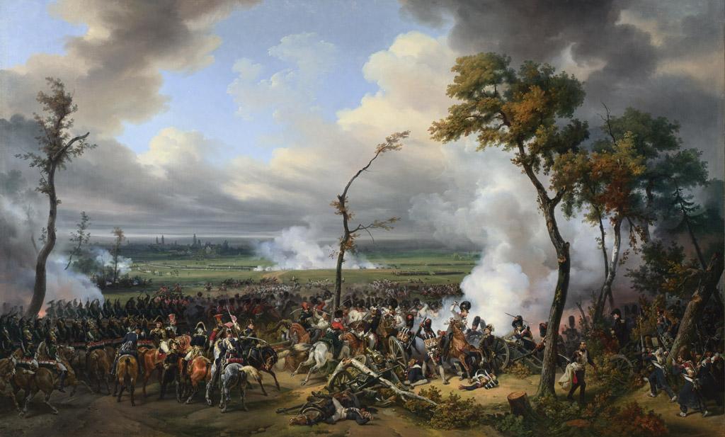 油絵 油彩画 絵画 複製画 オラース・ヴェルネ ハーナウの戦い F10サイズ F10号 530x455mm すぐに飾れる豪華額縁付きキャンバス