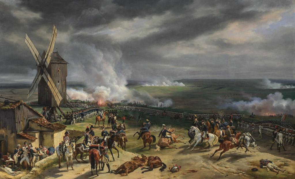 油絵 油彩画 絵画 複製画 オラース・ヴェルネ ヴァルミーの戦い F10サイズ F10号 530x455mm すぐに飾れる豪華額縁付きキャンバス
