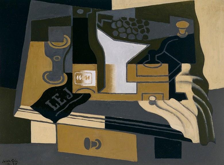絵画 インテリア 額入り 壁掛け複製油絵フアン・グリス コーヒー豆挽き器 P20サイズ P20号 727x530mm 絵画 インテリア 額入り 壁掛け 油絵