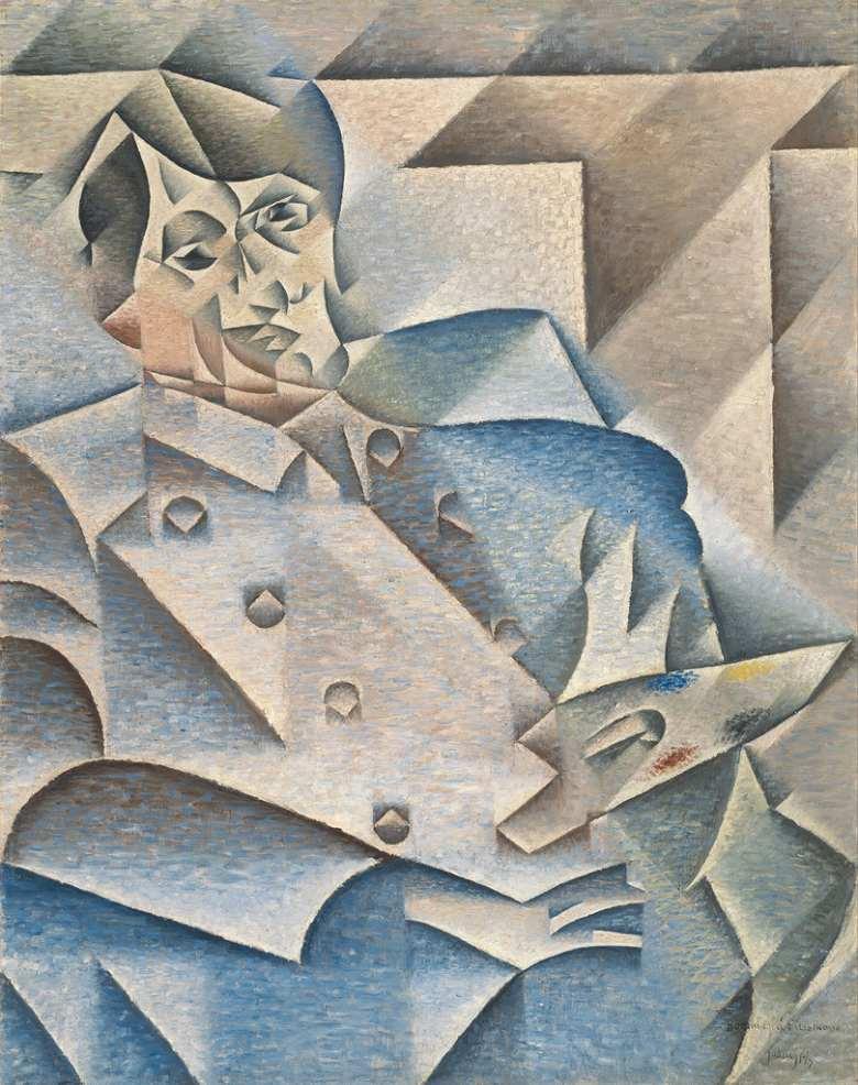 油絵 油彩画 絵画 複製画 フアン・グリス パブロ・ピカソの肖像 F10サイズ F10号 530x455mm すぐに飾れる豪華額縁付きキャンバス