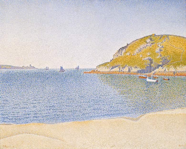 油絵 油彩画 絵画 複製画 ポール・シニャック サン=カ港 F10サイズ F10号 530x455mm すぐに飾れる豪華額縁付きキャンバス