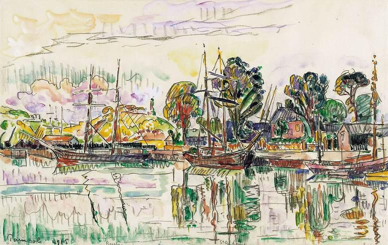 油絵 ポール・シニャック パンポル M12サイズ M12号 606x410mm 油彩画 絵画 複製画 選べる額縁 選べるサイズ