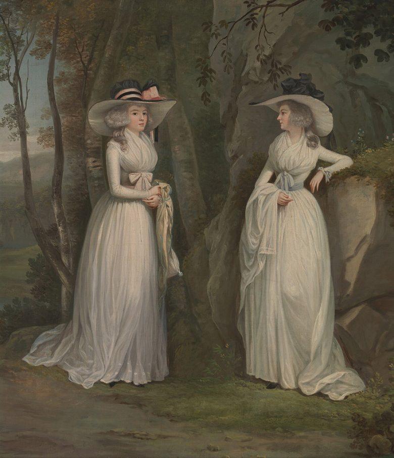 油絵 油彩画 絵画 複製画 アレキサンダー・ネイスミス ロス姉妹(エレナーとマーガレット) F10サイズ F10号 530x455mm すぐに飾れる豪華額縁付きキャンバス