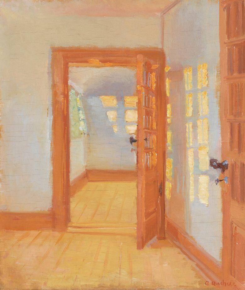 アンナ・アンカー 室内 F30サイズ F30号 910x727mm 絵画 インテリア 額入り 壁掛け複製油絵アンナ・アンカー
