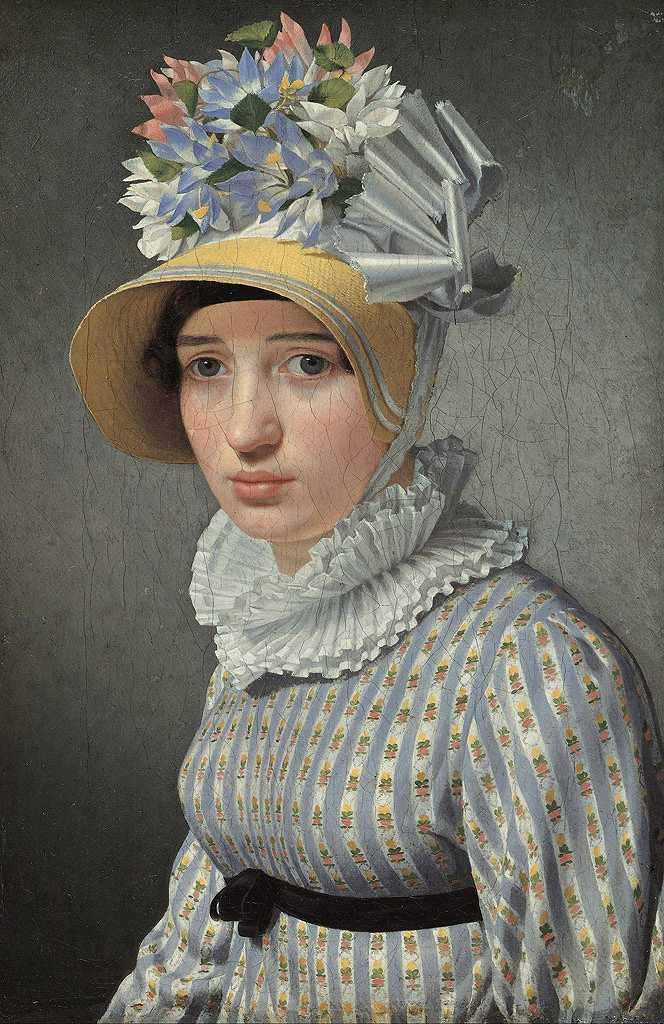 絵画 インテリア 額入り 壁掛け複製油絵クリストファー・ウィルヘルム・エッカースベルグ 女性の肖像 M20サイズ M20号 727x500mm 絵画 インテリア 額入り 壁掛け 油絵
