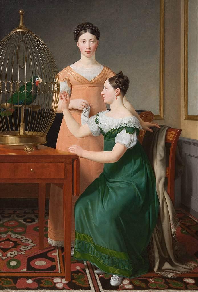 油絵 油彩画 絵画 複製画 クリストファー・ウィルヘルム・エッカースベルグ メンデル・レビン・ネサンソンの娘たち F10サイズ F10号 530x455mm すぐに飾れる豪華額縁付きキャンバス