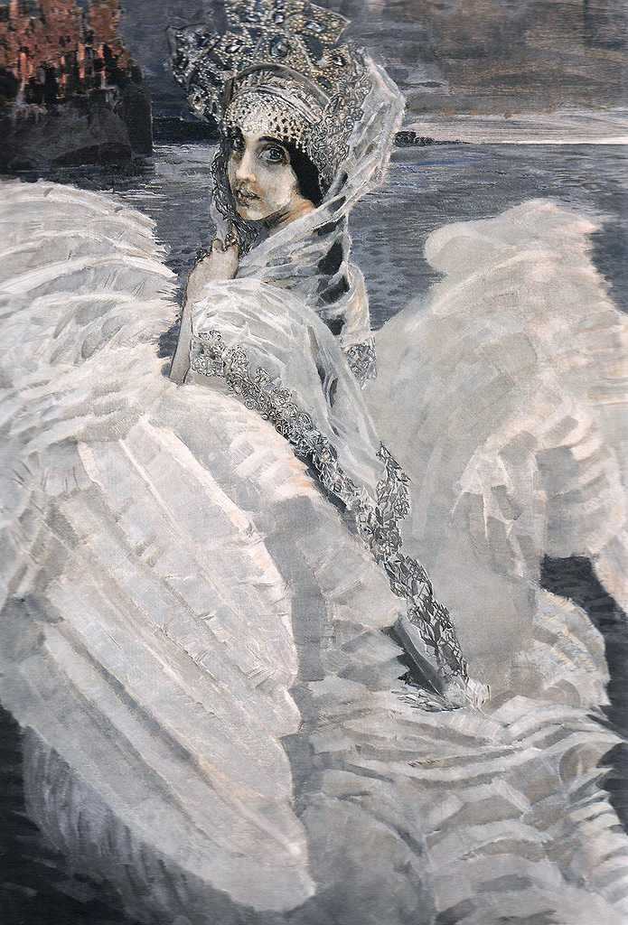 ミハイル・ヴルーベリ 白鳥の王女 F30サイズ F30号 910x727mm 条件付き送料無料  額縁付絵画 インテリア 額入り 壁掛け複製油絵 ミハイル・ヴルーベリ