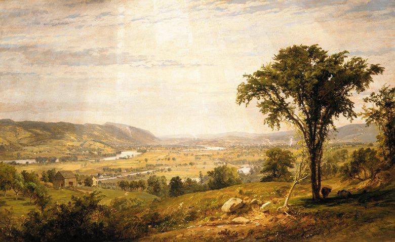油絵 油彩画 絵画 複製画 ジャスパー・フランシス・クロプシー ワイオミング・バレー、ペンシルヴァニア州 F10サイズ F10号 530x455mm すぐに飾れる豪華額縁付きキャンバス