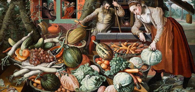 油絵 ピーテル・アールツェン 市場風景 F12サイズ F12号 606x500mm 油彩画 絵画 複製画 選べる額縁 選べるサイズ