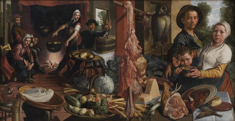 油絵 ピーテル・アールツェン 厨房 F12サイズ F12号 606x500mm 油彩画 絵画 複製画 選べる額縁 選べるサイズ