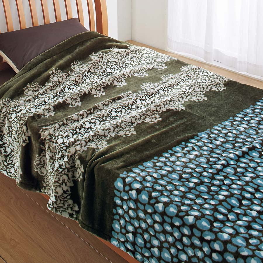 毛布 シングル 軽い トレンド 暖かい かわいい 出荷 ニューマイヤー毛布 Borely 西川リビング ボレリー