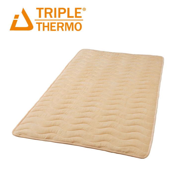 トリプルサーモ3 敷きパッド クィーン W発熱 保温 東洋紡 日本製 洗える 送料無料 ギフト 快眠博士