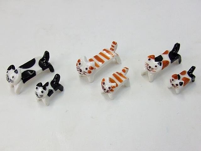 入手困難 ネコの筆置き 2匹セット 陶器 書道用品 数量限定 筆架