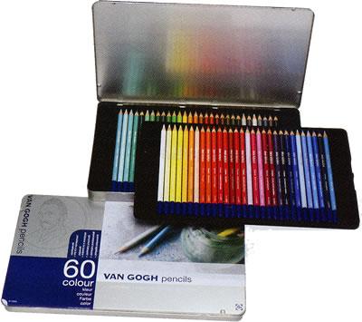 ヴァンゴッホ色鉛筆60色セット(メタルケース入り)(T9773-0065)