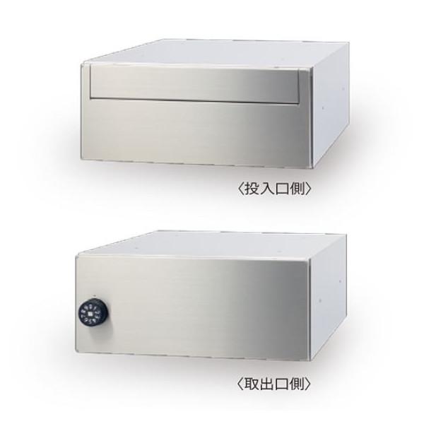 田島メタルワーク 集合ポスト MX-90 ヘアーライン 前入後出 フルフラットデザインタイプ 代引き不可