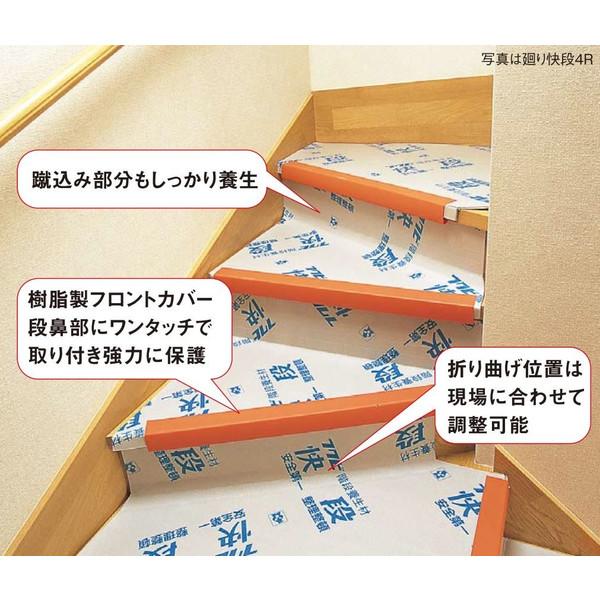 フクビ 廻り階段専用養生材 廻り快段 4R KDANM4R 14枚入り箱単位 代引き不可