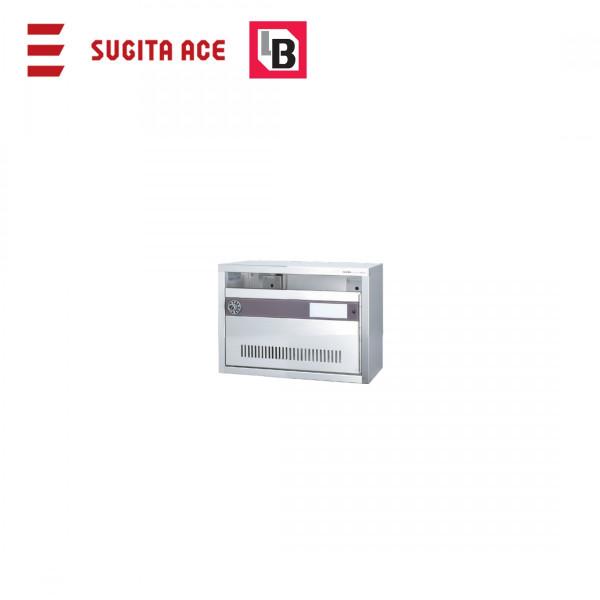 SUGITA ACE 集合用ポスト KAMポスト Bタイプ 1戸用 前入れ前出し ダイヤル錠 ステンレス製 代引き不可