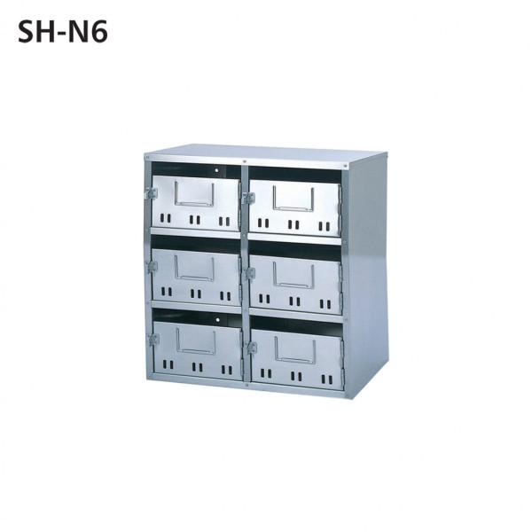 SONIA 公団型 集合用ポスト SH-N6  6戸用 前入れ前出し ステンレス製 代引き不可