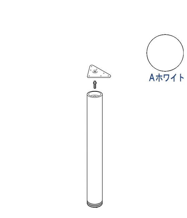 <title>多彩な色 サイズの中から選べる テーブル脚 エントリーでポイント5倍 ~5 16 1:59 エクセルフレーム ロイヤル EFW-60 -T 三角座 サイズ:φ60×671~770mm Aホワイト塗装 木部タイプ 奉呈</title>