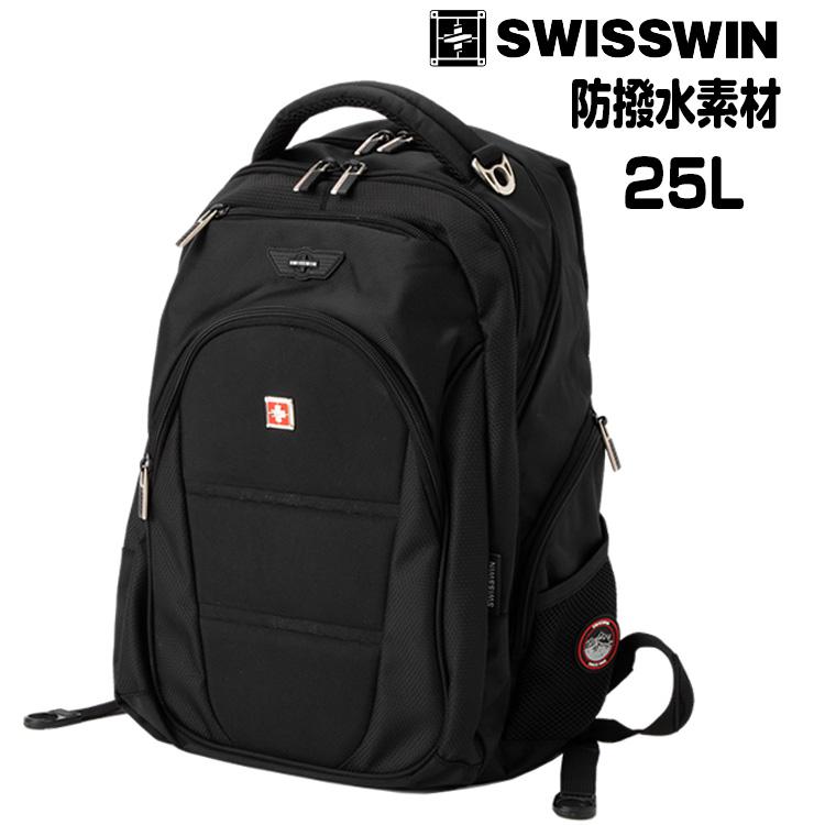swisswin 別倉庫からの配送 リュック 予約販売 リュックサック ノート PC ビジネス 登山 バッグ 旅行 通勤用 アウトドア 通学 デイパック カジュアル20代 送料無料 50代 男女兼用 バックパック 60代 大容量 40代 25L ビジネスリュック SW9207 ブラック 30代 SWISSWIN