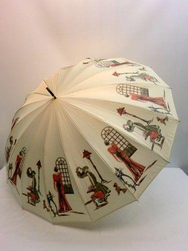 晴雨兼用・長傘-婦人 甲州産16本骨ほぐし織フレンチマダム超軽量晴雨兼用UVケア日本製手開傘