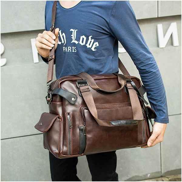 ショルダーバッグ ビジネスバッグ ボディバッグ PU革 鞄 斜めがけ 肩掛け 通勤 旅行 大人 高校生 メンズ 軽量 おしゃれ 紳士用 出張 男女兼用 大容量 sss