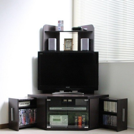 3980円(税込)以上で送料無料/50インチ対応 上棚付コーナーテレビ台 ハイタイプ 最大幅102cm 奥行72cm L型 TV台 テレビボード 大型テレビ対応 AVラック ローボード