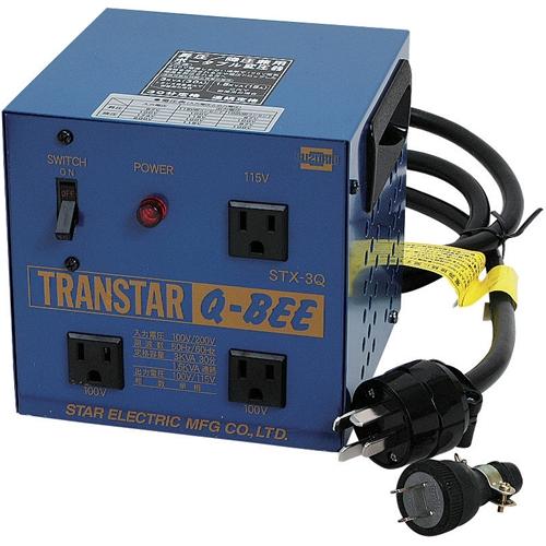 5/9-16 お買い物マラソン最大44倍/スズキット 昇圧機/降圧機兼用 トランスター Q-BEE 100V/200V兼用 変圧器 4991945015869