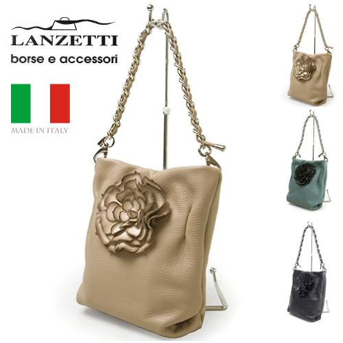 レディースバッグ イタリア製 牛革 ハンドバッグ LANZETTI ランゼッティ Art.3110