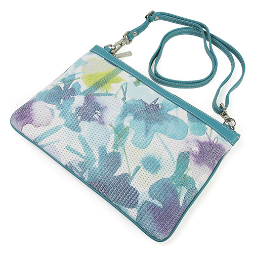 Cowhide 3WAY clutch shoulder bag ARCADIA Arcadia Art  319 TURCHESE  turquoise made in lady's bag Italy