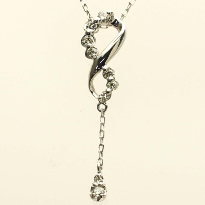 【アウトレット】 【kawasumi】 【送料無料】 K18WGダイヤモンドネックレス ネックレス ホワイトゴールド ダイヤプチネックレス ダイヤネックレス ダイヤペンダント ダイヤモンド 記念日 誕生日 プレゼント ギフト 贈り物 お値打ち お出かけ ジュエリー 川スミ 母の日