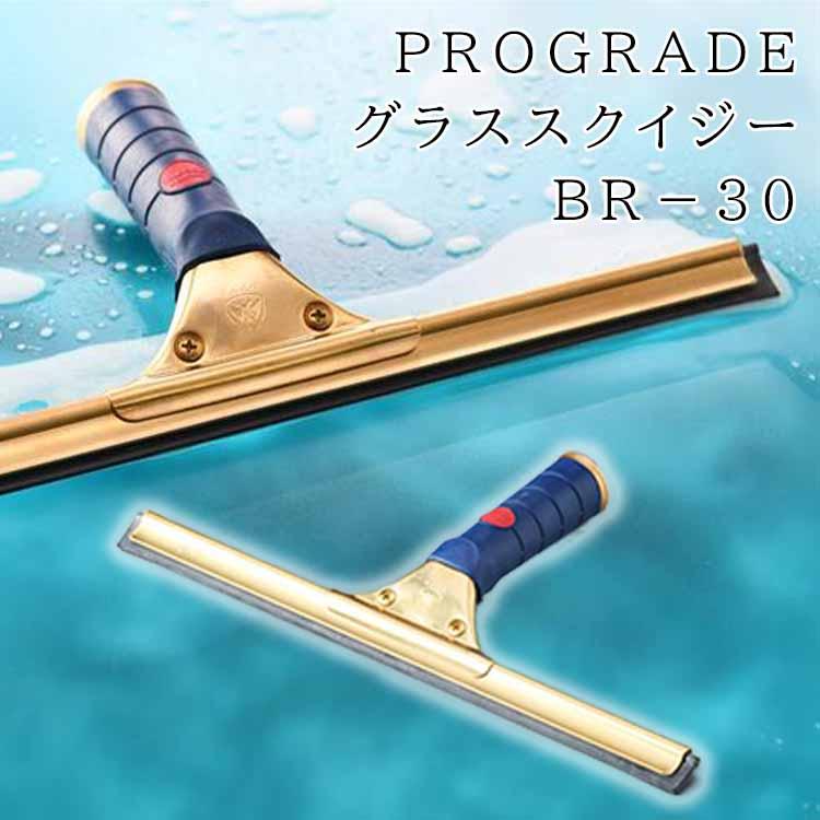 ビルメンプロ御用達の真鍮製 PROGRADE グラス 美品 BR-30 人気上昇中 スクイジー