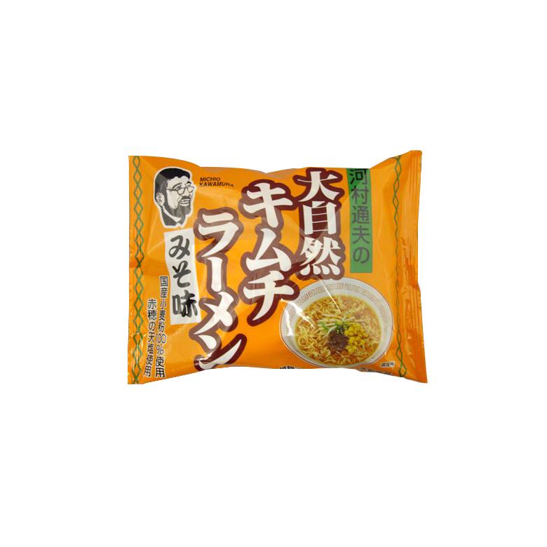 国産小麦粉100% 植物性油100% 無かん水麺 味噌キムチラーメン 1002045-kf みそ味 健康フーズ 迅速な対応で商品をお届け致します 94g 数量は多 河村通夫の大自然キムチラーメン