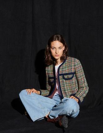 sandro サンドロ Multicoloured (人気激安) ジャケット セール 登場から人気沸騰 tweed jacket