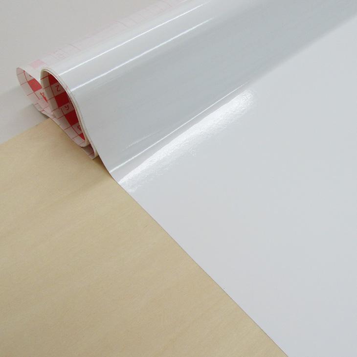 壁紙シール15m おしゃれで簡単に貼れる【ドイツ製】粘着シート『d-c-fix(つやあり白)』90cm巾×15m/200-5145