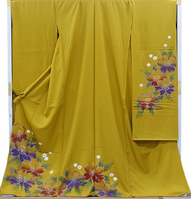 【3割引クーポン有】 振袖 販売 購入 正絹 仮縫い アウトレット 訳有り 生地 教材 絹生地【 未仕立て 】