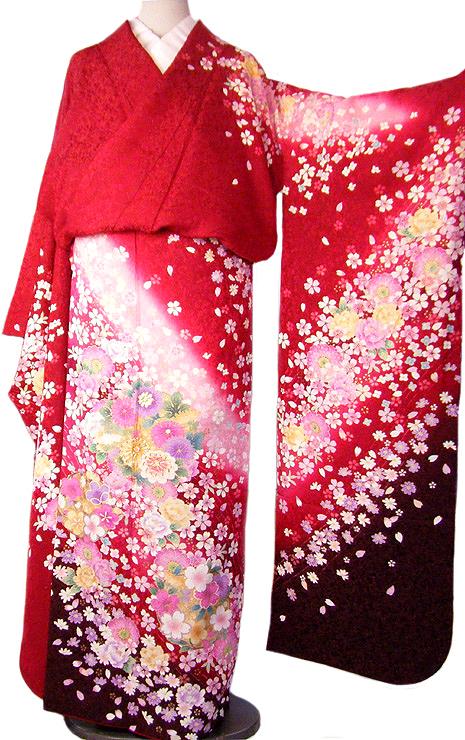 仮縫い 振袖 購入 販売 正絹 生地 教材 絹生地 【 未仕立て 中古品扱い 】
