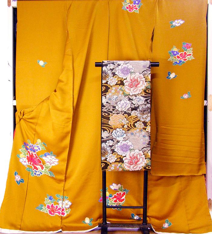 【2割引クーポン有】 仮縫い 振袖 購入 販売 正絹 仮縫い 生地 教材 絹生地 【 未仕立て アウトレット品扱い 】