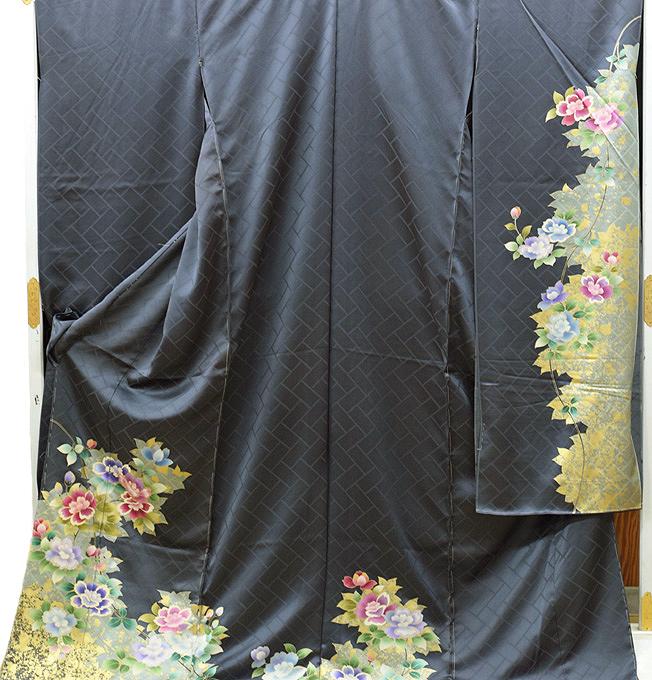 振袖 購入 販売 正絹 仮縫い 生地 教材 絹生地 【 未仕立て 中古品扱い 】