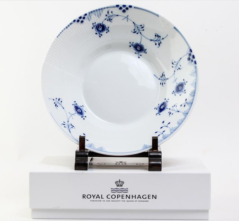 ロイヤルコペンハーゲン ブルーフルーテッド プレート 24cm #21262
