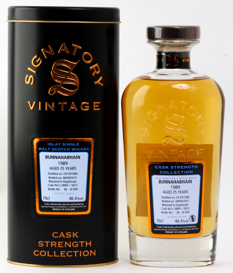 ブナハーブン 25年 1989 SV カスクストレングス 46.4% 700ml BUNNAHABHAIN 25y Signatory Vintage CASK STRENGTH COLLECTION #1050 alc