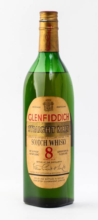 グレンフィディック 8年 ストレートモルト スコッチ ウイスキー#1846 alc