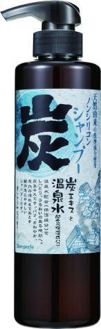 【12本セット販売】スパミネラル ノンシリコン 炭シャンプー 500ml 大江戸温泉 外国人 お土産 人気 送料無料