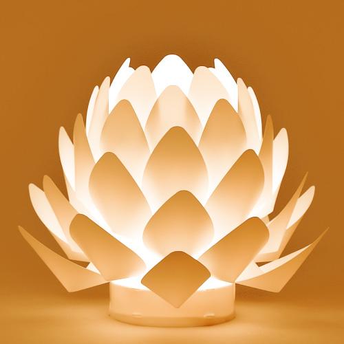 木谷仏壇 照明  カメヤマローソク オリガミライト蓮花XS 盆提灯  供養灯  進物  お彼岸  お盆  乾電池式  インテリア照明 贈答 贈答用
