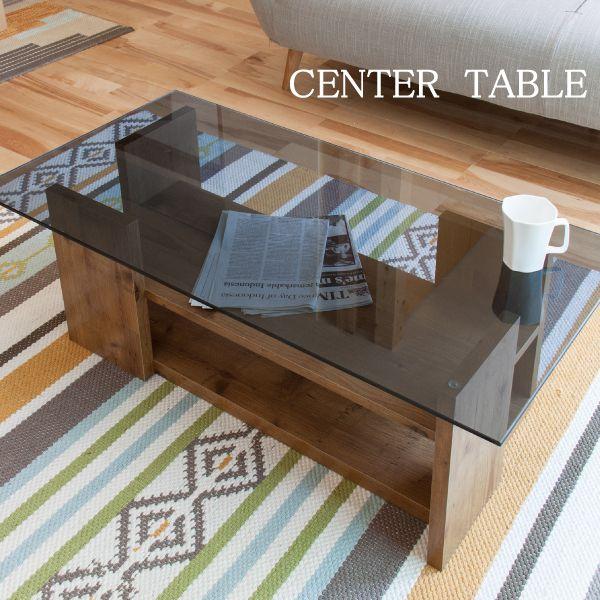 【送料無料】センターテーブル SO-100 ガラス 木製 おしゃれ 北欧 フレンチ ナチュラル リビングテーブル ダイニングテーブル ローテーブル コーヒーテーブル ガラステーブル シンプル カントリー 棚付き 便利 新生活 ヴィンテージ 西海岸 カフェテーブル ソファーテーブル